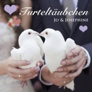 Turteltäubchen - Lieder zur Goldenen Hochzeit deutsch Cover mit weißen Tauben