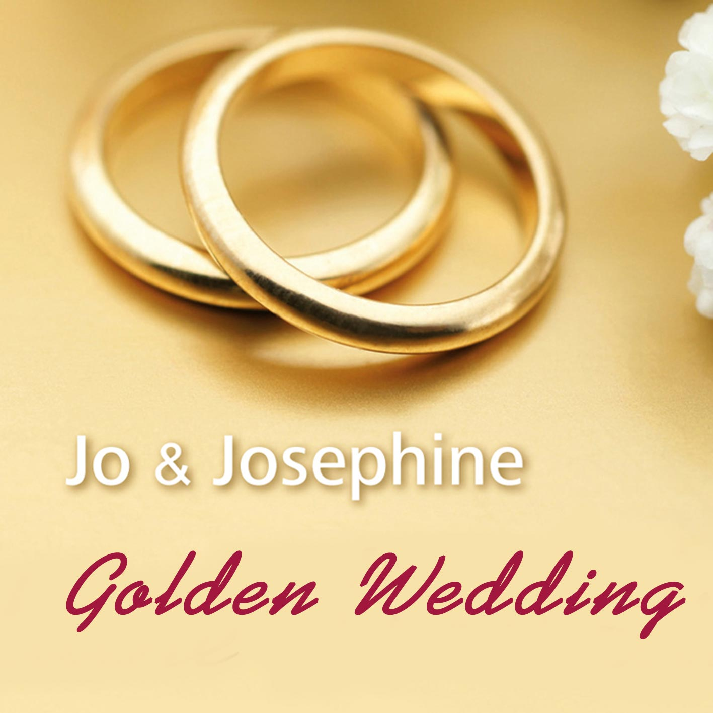 Cover Golden Wedding Song mit goldenen Ringen