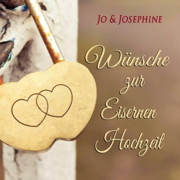 eiserne Hochzeit Geschenk Cover der CD Wünsche