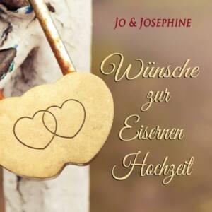 Wünsche zur Eisernen Hochzeit Cover der CD mit ineinandergeschlungenen Herzen