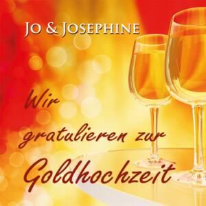 CD-Cover Goldhochzeit Weingläser rot gelber Hintergrund