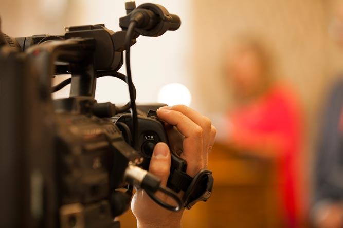 Diamantene Hochzeit Glückwünsche mit Videoaufnahmen Detailkamera in Action