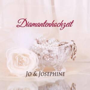 Diamanten Hochzeit CD-Cover mit Kristallschale und Glasrose