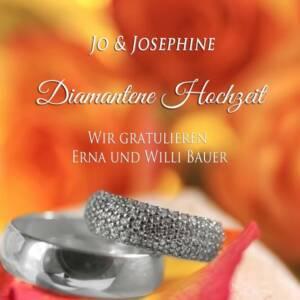 60 Jahre verheiratet Lieder Cover mit Diamantringen