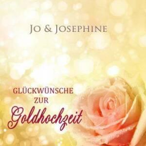 Cover Gratulationslied zur Goldhochzeit mit rosafarbener Rose auf gelb meliertem Hintergrund