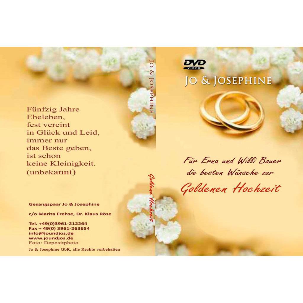 Zur Goldenen Hochzeit personalisierte DVD schenken
